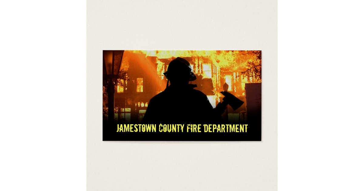 Fire Department Business Cards | Zazzle.com
