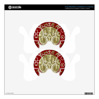 Fire Department Chief Brass Symbol Decal For PS3 Controller