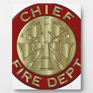 Fire Department Chief Brass Symbol Plaque