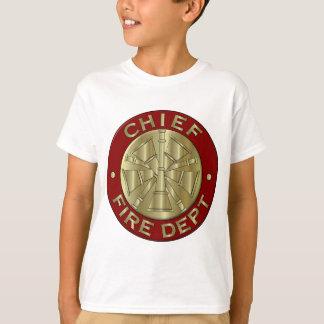 Fire Department Chief Brass Symbol T-Shirt
