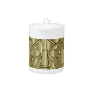 Fire Department Chief Brass Symbol Teapot