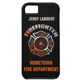 Fire Department Chrome Name Template iPhone 5 Covers