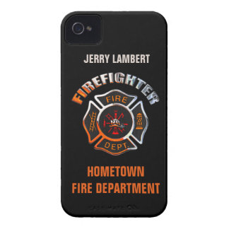 Fire Department Chrome Name Template iPhone 4 Case-Mate Case