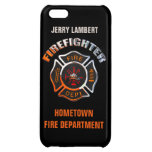 Fire Department Chrome Name Template iPhone 5C Cases