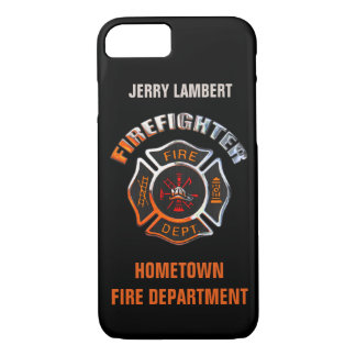 Fire Department Chrome Name Template iPhone 8/7 Case