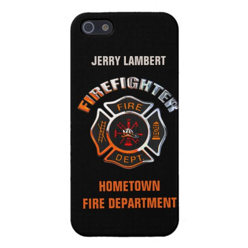 Fire Department Chrome Name Template Covers For iPhone 5