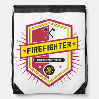 Fire Department Crest Drawstring Backpack