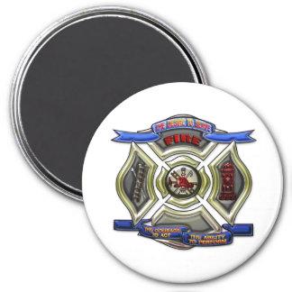 Fire Department Crest 3 Inch Round Magnet