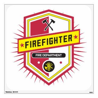 Fire Department Crest Wall Decal