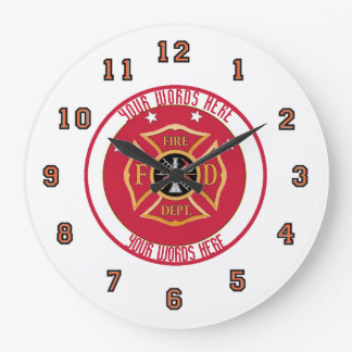 Fire Department Custom Clock