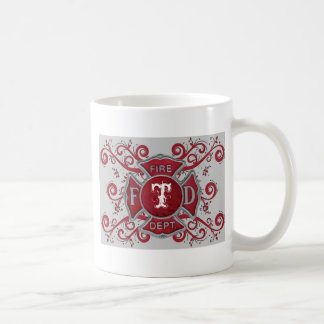 Fire Department Custom Monogram Coffee Mug