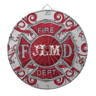 Fire Department Custom Monogram Dart Board