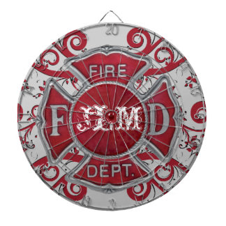 Fire Department Custom Monogram Dart Boards