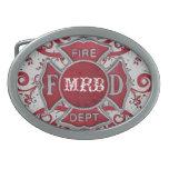 Fire Department Custom Monogram Oval Belt Buckles