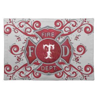 Fire Department Custom Monogram Placemat