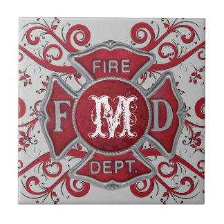 Fire Department Custom Monogram Tile