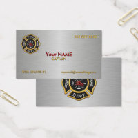 Fire Department Deluxe Business Card
