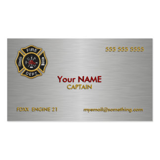 Fire Department Deluxe Double-Sided Standard Business Cards (Pack Of 100)