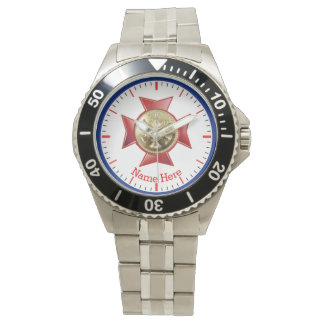 Fire Department Division Chief Gold Medallion Wristwatch