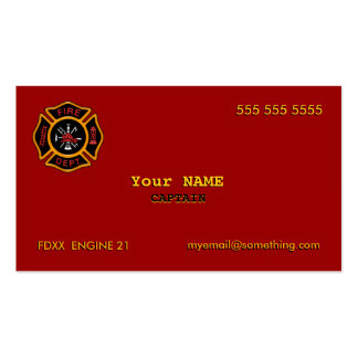 Fire Department Double-Sided Standard Business Cards (Pack Of 100)