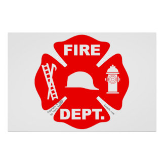 Fire Department Emblem - Poster