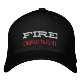 FIRE, DEPARTMENT EMBROIDERED BASEBALL CAP