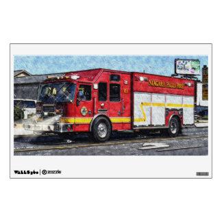 Fire Department Fire Truck Window Decal