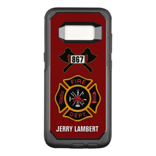 fire department firefighter badge name template otterbox commuter