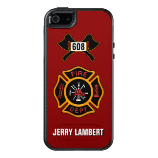 Fire Department Firefighter Badge Name Template OtterBox iPhone 5/5s/SE Case