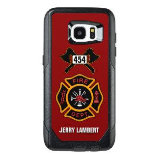 Fire Department Firefighter Emblem Name Template OtterBox Samsung Galaxy S7 Edge Case