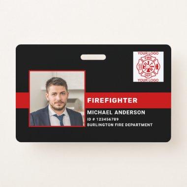 Fire Department Fireman ID Photo Firefighter ID Badge