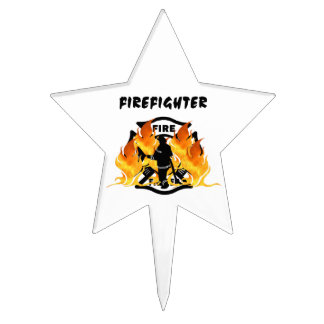 Fire Department Flames Cake Pick