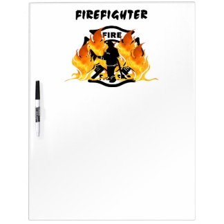 Fire Department Flames Dry Erase Board