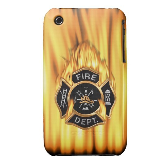 Fire Department Flames iPhone 3 Case-Mate Case