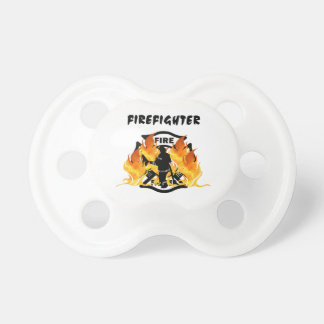Fire Department Flames Baby Pacifiers