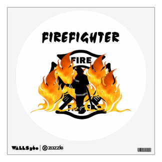 Fire Department Flames Wall Sticker