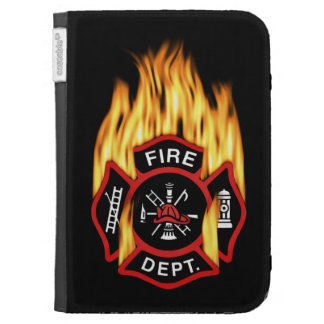 Fire Department Flaming Badge Kindle 3 Case