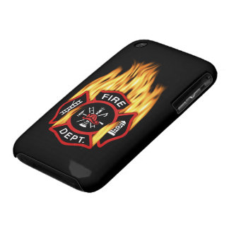 Fire Department Flaming Badge iPhone 3 Case