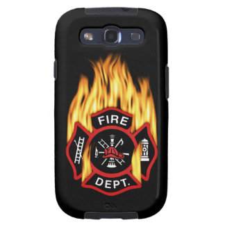 Fire Department Flaming Badge Galaxy S3 Cases