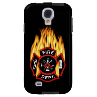 Fire Department Flaming Badge Galaxy S4 Case