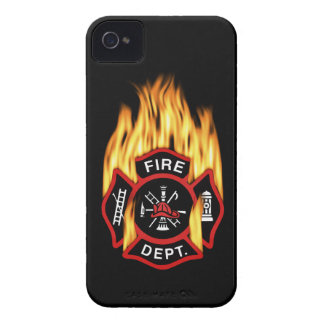 Fire Department Flaming Badge iPhone 4 Case-Mate Case