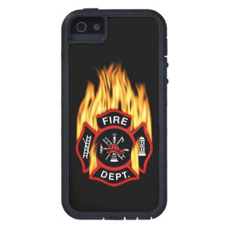 Fire Department Flaming Badge Case For iPhone SE/5/5s