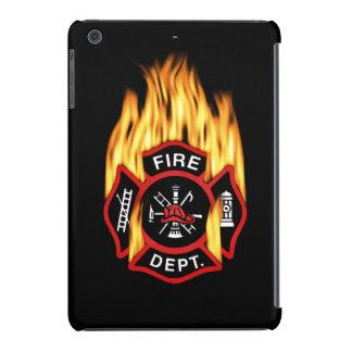 Fire Department Flaming Badge iPad Mini Retina Covers