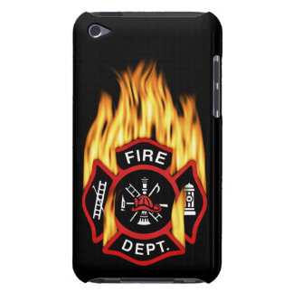 Fire Department Flaming Badge iPod Case-Mate Case
