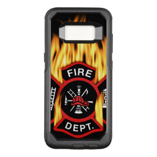 Fire Department Flaming Badge OtterBox Commuter Samsung Galaxy S8 Case