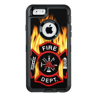 Fire Department Flaming Badge OtterBox Defender iPhone Case