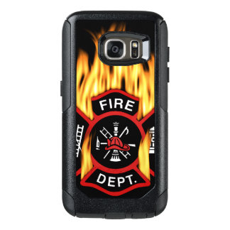 Fire Department Flaming Badge OtterBox Samsung Galaxy S7 Case