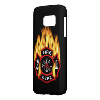 Fire Department Flaming Badge Samsung Galaxy S7 Case