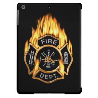 Fire Department Flaming Gold Badge iPad Air Covers