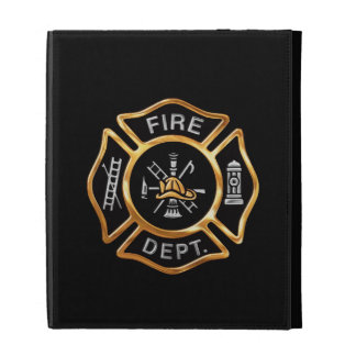Fire Department Gold Badge iPad Folio Covers